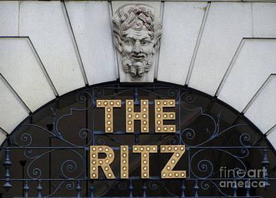 The Ritz London Art Print by Lesley Nolan