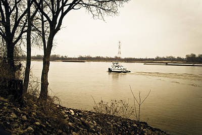 Photograph - The River Barge by Kristy Creighton