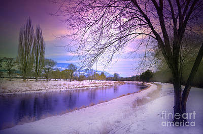 Photograph - The River Channel In The Winter by Tara Turner