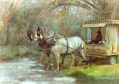 The River Crossing Art Print by Trudi Simmonds