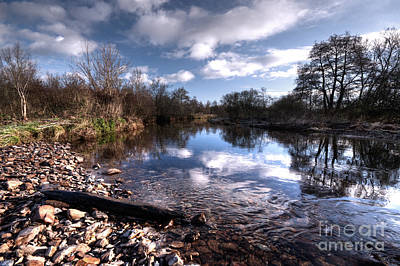 The River Culm At Five Fords Print by Rob Hawkins