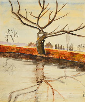 Painting - The River In Winter - Painting by Veronica Rickard