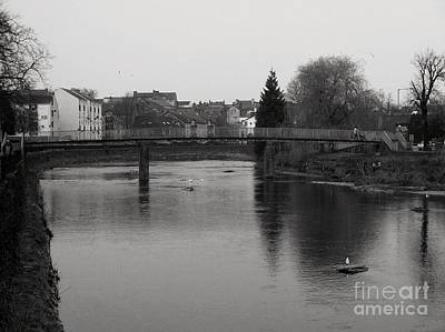 Photograph - The River Kent At Kirkland Kendal Bw by Joan-Violet Stretch