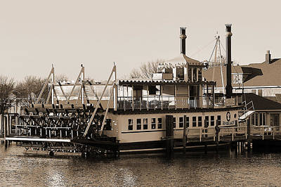 The River Lady Toms River New Jersey Art Print by Terry DeLuco