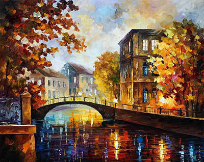 The River Of Memories - Palette Knife Oil Painting On Canvas By Leonid Afremov Original