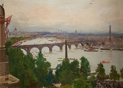 The River Pageant, As Seen Print by Sir John Lavery