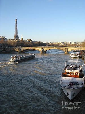 The River Seine In Paris Print by Kiril Stanchev