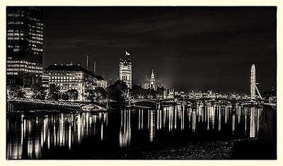 Photograph - The River Thames At Night by Lenny Carter