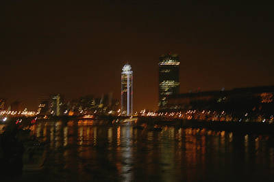 Photograph - The River Thames At Night by Doc Braham
