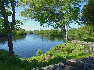 Photograph - The River View  by Georgia Hamlin