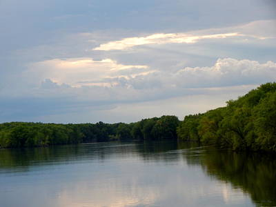 Cloud Like Glass Photograph - The River by Wild Thing
