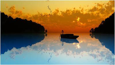Digital Art - The Riverboat... by Tim Fillingim
