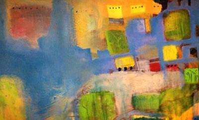 Painting - The River's  Town / It Has Been Sold by Khalid Alaani