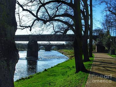 Photograph - The Riverside At Avenham Park In Winter by Joan-Violet Stretch