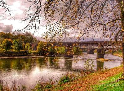 Photograph - The Riverside At Avenham Park by Joan-Violet Stretch