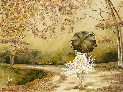 Ballerina Artwork Painting - The Road by Karina Llergo