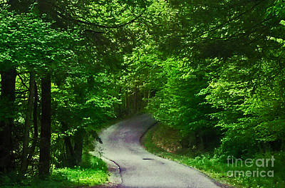 Take The High Road Photograph - The Road by Katherine Williams