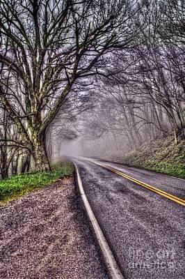 Asphalt Digital Art - The Road Less Traveled by Dan Stone
