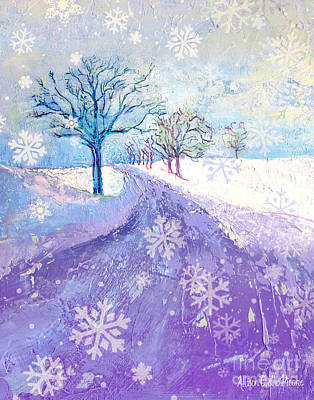 Grafton Painting - The Road Less Traveled In Blue by Allison Coelho Picone