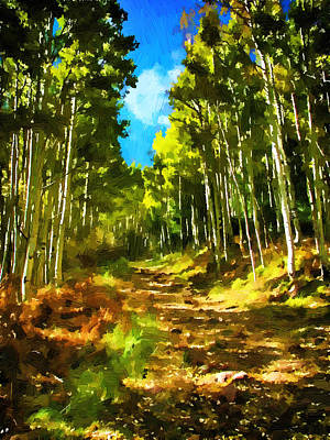 Painting - The Road Less Traveled by John Haldane