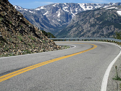 Beartooth Mountain Range Photograph - The Road by Mike Podhorzer