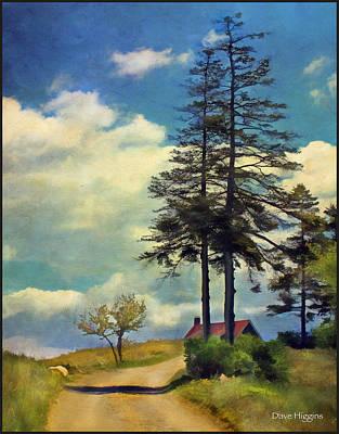 The Road Monhegan Island  Maine Art Print by Dave Higgins