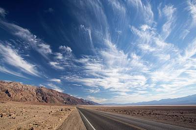 Hot Creek Photograph - The Road Near Badwater by Ashley Cooper