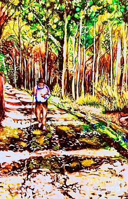 Fork In The Road Painting - The Road Not Taken by Carole Spandau
