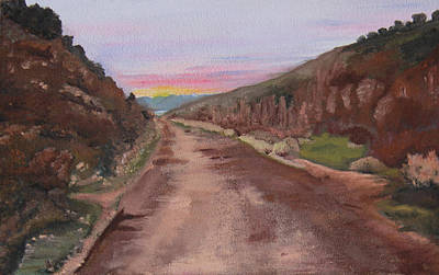 Painting - The Road Not Taken by Nila Jane Autry