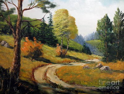 Art Print featuring the painting The Road Not Taken by Lee Piper