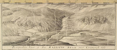 Indian Ink Photograph - The Road Over Corryarick Hills by British Library