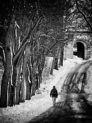 Library Photograph - The Road by Stelios Kleanthous