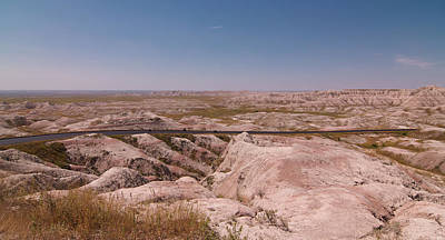 Photograph - The Road Through The Badlands by Heidi Hermes