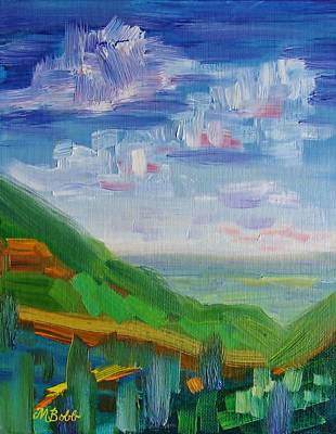 Painting - The Road To A Friends House Is Never Long by Margaret Bobb