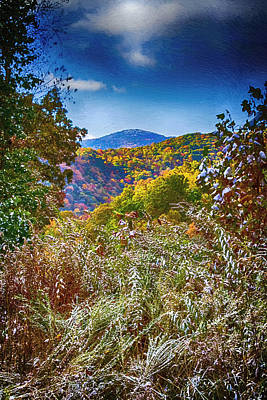 Smokey Mountains Painting - The Road To Cataloochee On A Frosty Fall Morning by John Haldane