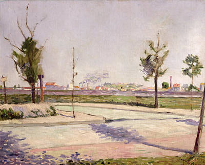 Impressionist Photograph - The Road To Gennevilliers, 1883 Oil On Canvas by Paul Signac