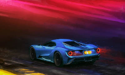 Digital Art - The Road To Le Mans by Alan Greene