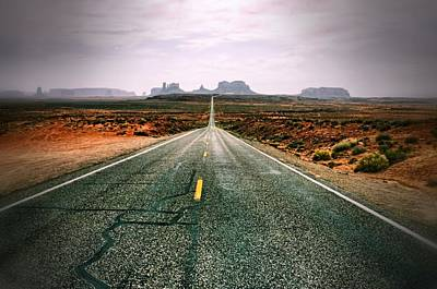 The Road To Monument Valley Art Print by Silvio Ligutti