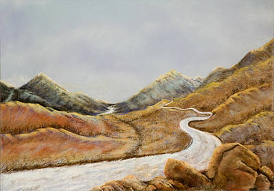 Art Print featuring the painting The Road To Nowhere by Susan Culver