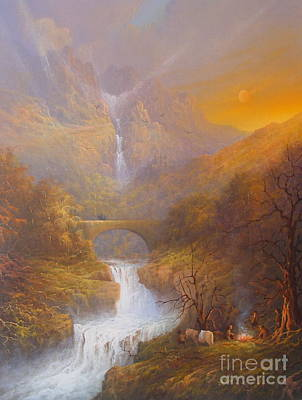 The Shire Painting - The Road To Rivendell The Lord Of The Rings Tolkien Inspired Art  by Joe  Gilronan