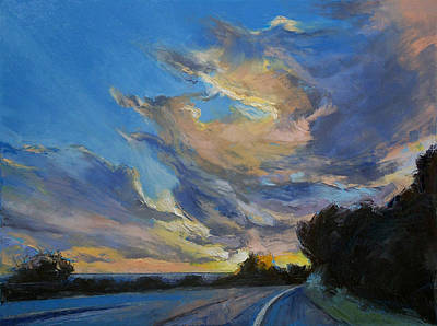 Sun Rays Painting - The Road To Sunset Beach by Michael Creese
