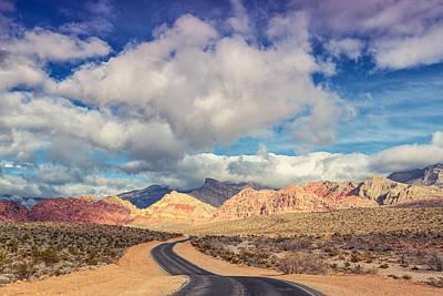 Burros Photograph - The Road To Turtlehead Peak Las Vegas Nevada Red Rock Canyon  by Silvio Ligutti