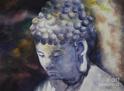 Painting - The Roadside Buddha by Glenyse Henschel