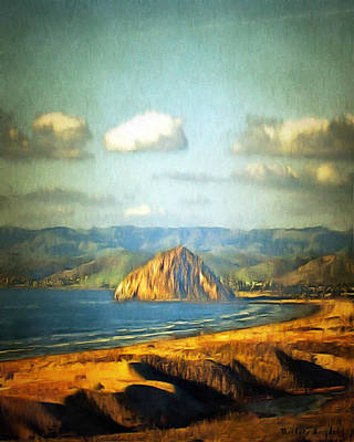 Spit Painting - The Rock At Morro Bay 2 by Barbara Snyder