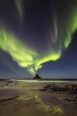 Aurora Borealis Photograph - The Rock by Frank Olsen