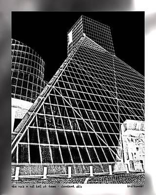The Rock Hall Cleveland Art Print by Kenneth Krolikowski