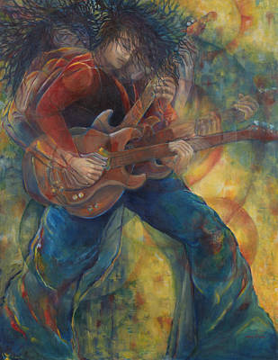 Van Halen Painting - The Rocker by Anika Ferguson
