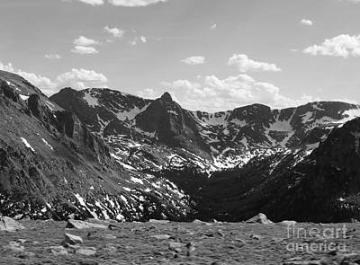 The Rockies Monochrome Art Print