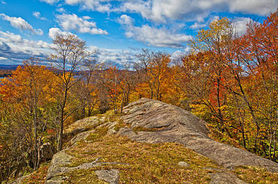 Fir Trees Photograph - The Rocks Above Eagle Bay In The Adirondacks by David Patterson