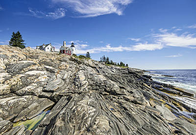 The Rocks At Pemaquid Point Maine Art Print